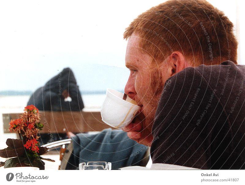 Time Out Mensch Kaffee genießen Lebensmittel