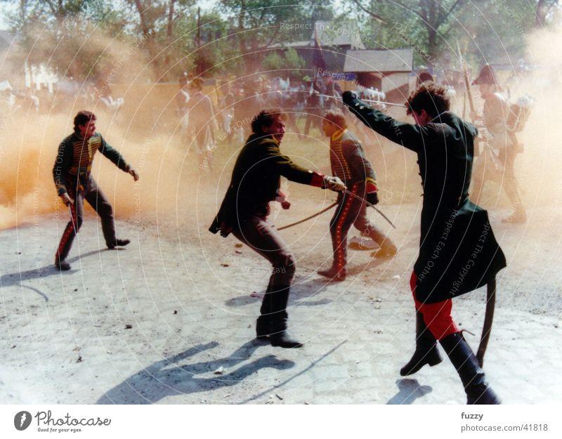 Action historisch Zweikampf Säbel Großgörschen