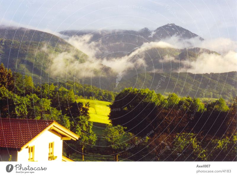 Nach dem Gewitter Natur Wolken Berge u. Gebirge