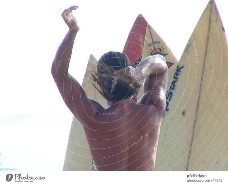 Surf Mensch Indonesien Bali Legian Beach