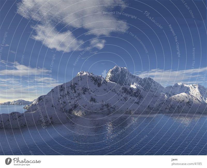 Bergwelt Schnee Berge u. Gebirge See