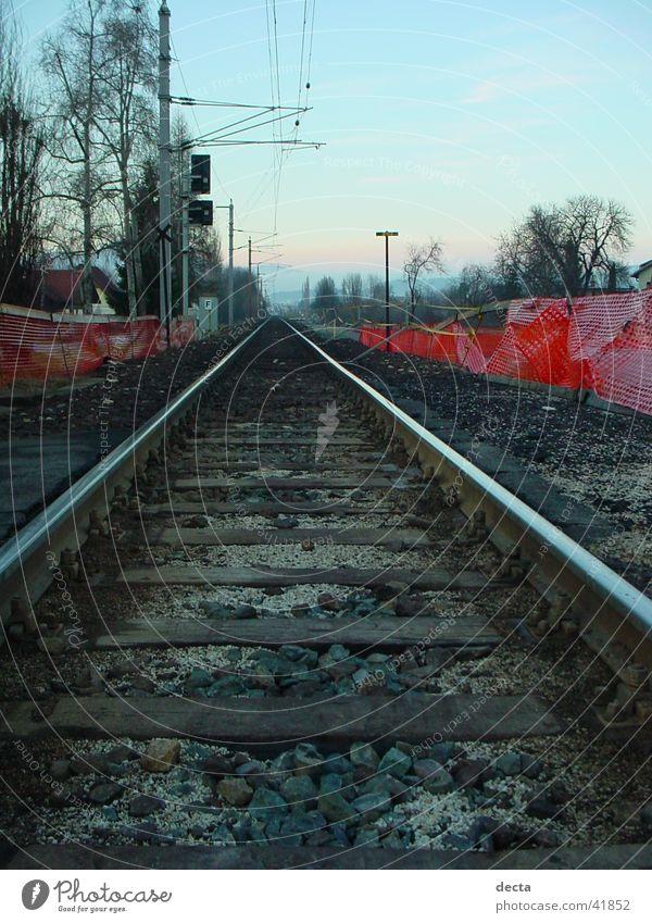 zugschienen Eisenbahn Gleise Industrie Natur Ferien & Urlaub & Reisen