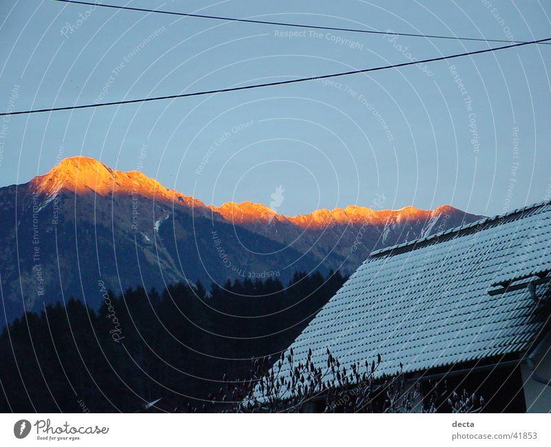 bergsonnenschein Sonne Berge u. Gebirge Natur Spitze