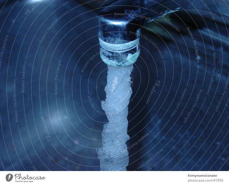 Faucet Wasser blau Wasserhahn Fototechnik