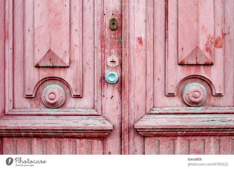alte Vintage Holztür schließen up abstrakt Zugang Hintergrund braun abschließen Nahaufnahme Farbe Design dreckig Griff Türschloss Eingang Gate Grunge bewachen
