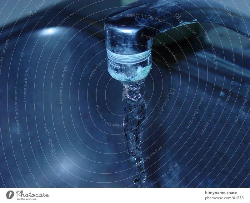 Faucet 1 Wasser blau Wasserhahn Fototechnik