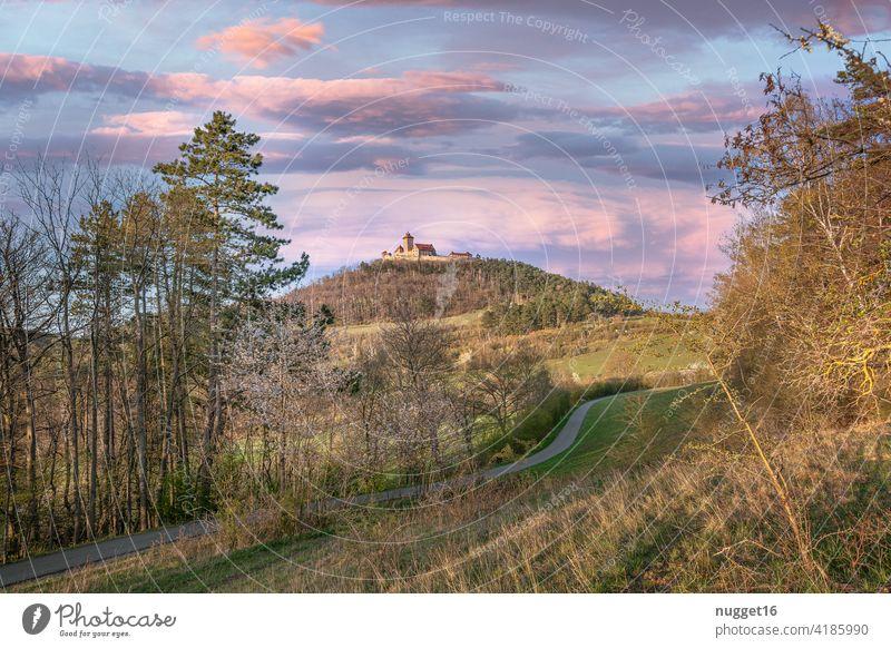 die Wachsenburg im schönen Thüringen wachsenburg thüringen Außenaufnahme Farbfoto Menschenleer Landschaft Natur mittelalter Burg oder Schloss Himmel historisch