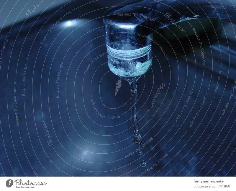 Faucet 3 Wasser blau Wasserhahn Fototechnik