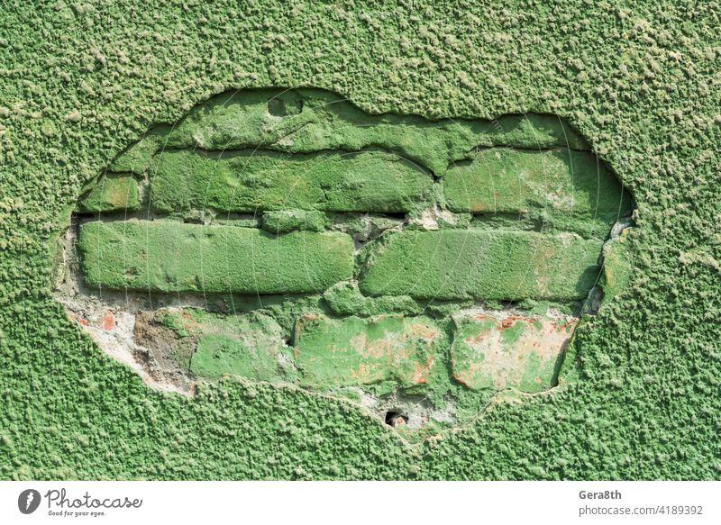 Muster alte Ziegelmauer Nahaufnahme abstrakter Hintergrund Abstraktes Muster Abstraktion Architektur Klotz Baustein Backsteinhintergrund Ziegel-Muster Mauerwerk
