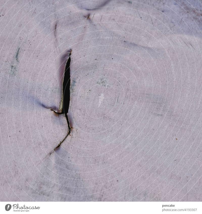 materialermüdung Hintergrund Plane Abdeckplane Folie verwittert Schutz alt Faltenwurf Kunststoff Abdeckung abstrakt Riss Materialermüdung