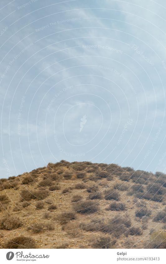Wüstenort in Almeria gelegen Himmel wüst Natur Spanien Höhe Hügel Landschaft Sommer sehen grün blau sonnig Sonne Berge u. Gebirge Kanarienvogel reisen Ansicht