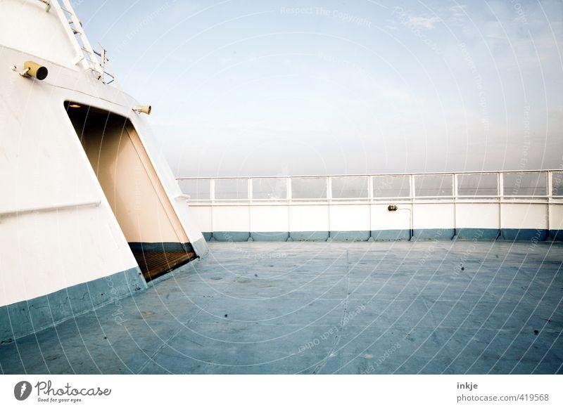 heute keiner an (light-)deck..... Himmel Ferien & Urlaub & Reisen blau weiß Sommer Meer Ferne Tourismus Schönes Wetter Sommerurlaub Schifffahrt Reichtum