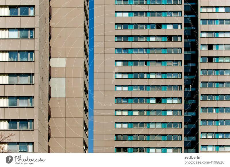 Wohnblocks auf der Fischerinsel, Berlin architektur berlin büro city deutschland dämmerung froschperspektive hauptstadt haus hochhaus innenstadt mitte modern