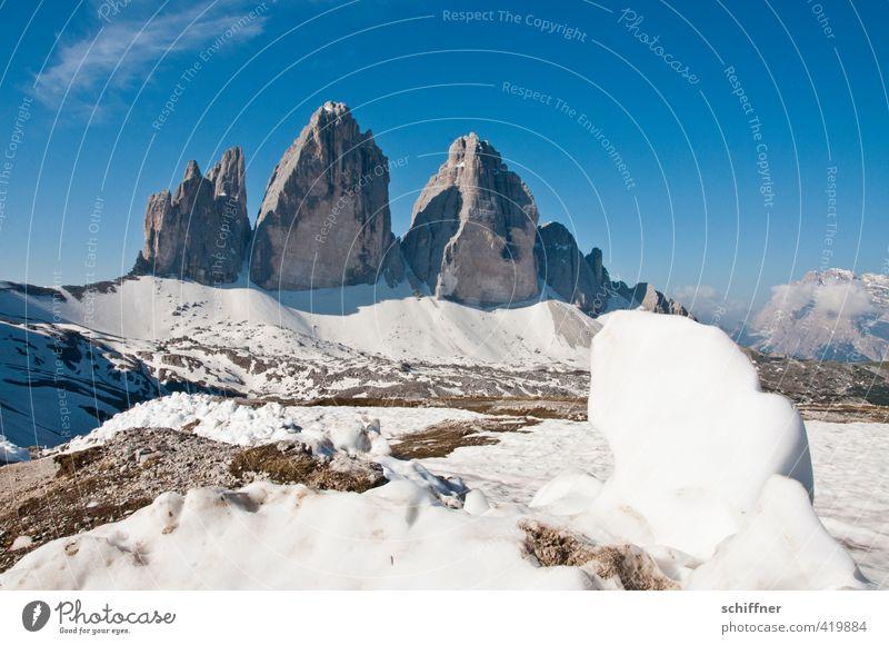 Dreizack Natur Sonne Landschaft Umwelt Berge u. Gebirge Schnee Frühling Felsen außergewöhnlich Eis Klima Schönes Wetter Frost Gipfel Alpen Schneebedeckte Gipfel
