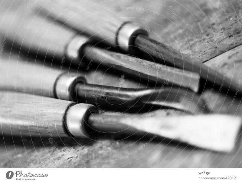 Schnitzwerkzeug Werkzeug Dinge Schwarzweißfoto