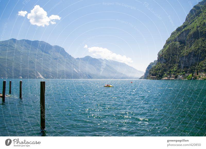 Gardasee - Lago di garda Natur Ferien & Urlaub & Reisen Wasser Ferne Wald Umwelt Berge u. Gebirge Sport Küste Freiheit See Felsen Freizeit & Hobby Klima