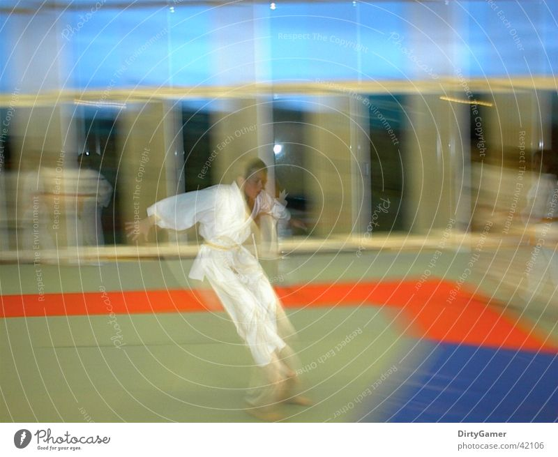 SlowMotion3 Sport springen Bewegung Kampfsport Judo