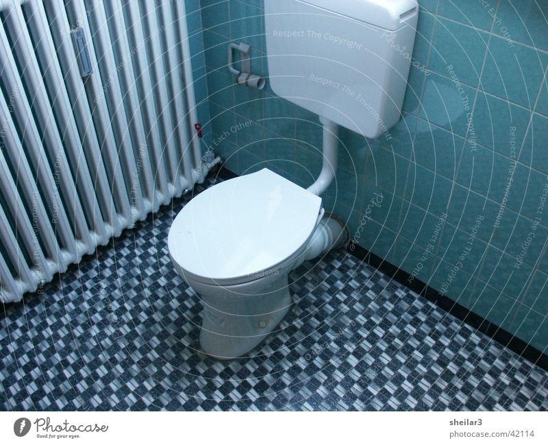 KLO blau Toilette Dinge Siebziger Jahre