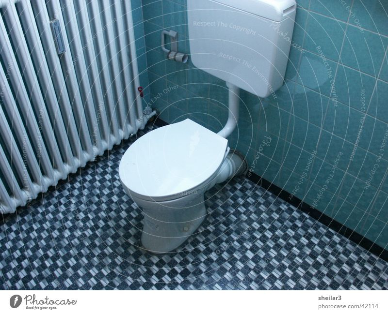 KLO Siebziger Jahre Dinge Toilette blau