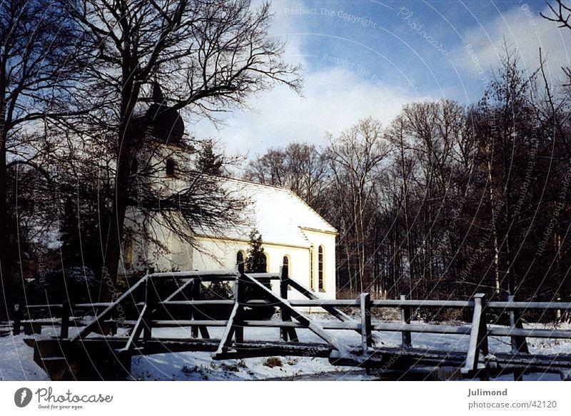 Ländliche Idylle Wintermorgen Lausitz an der Elster