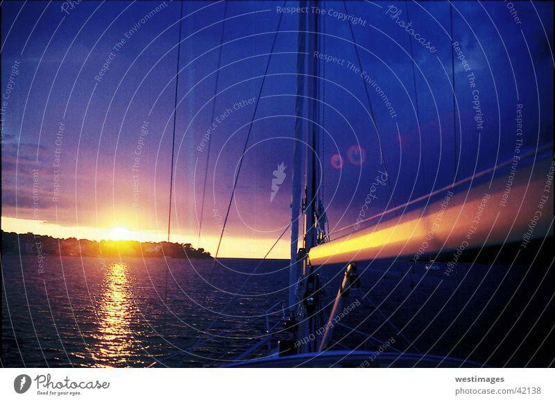 Sonnenuntergang Meer Segeln Bucht