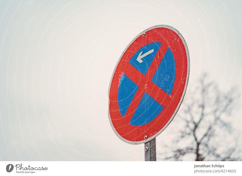 Verkehrsschild absolutes Halteverbot Anfang nach StVO Aluminium Straße Verbot Gesetze und Verordnungen regeln Schilder & Markierungen Zeichen Verbote Warnschild