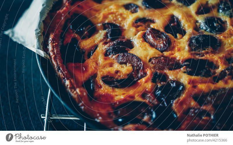 Pflaumenkuchen Pasteten Dessert Gebäck süß Rezept Essen zubereiten Lebensmittel selbstgemacht Torte Bäckerei lecker Küche gebacken selbstgebacken Kuchen golden
