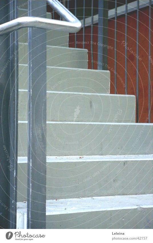 Treppauf Beton Architektur Treppe Geländer Metall