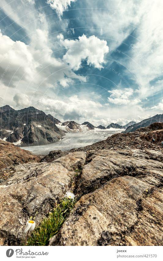 Was ist schon ewig. Himmel Natur blau alt grün weiß Landschaft Blume Wolken schwarz kalt Umwelt Berge u. Gebirge Herbst Stein Horizont