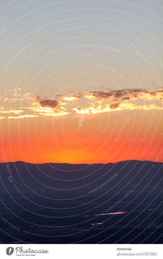 rhine valley sunset Himmel Natur Ferien & Urlaub & Reisen schön Sonne rot Landschaft Wolken Ferne dunkel Berge u. Gebirge Umwelt Wärme Freiheit Horizont orange