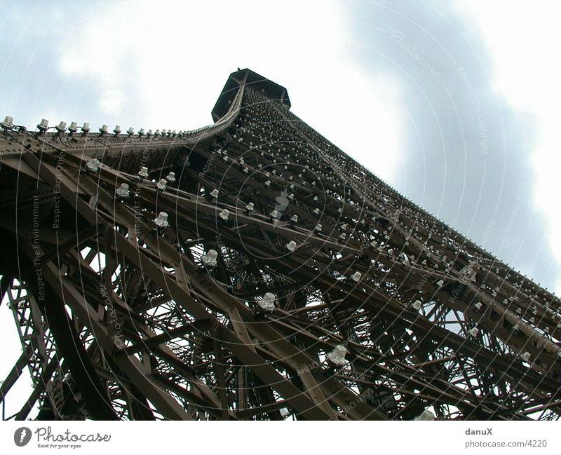 Eiffelturm Froschperspektive Turm Baugerüst Metall