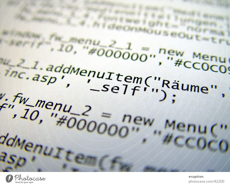 Quellcode Software Informationstechnologie Kennwort Fototechnik Quelltext Meta-Tag
