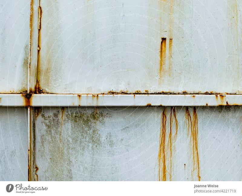 Verrostete Stahlwand. rostiges Metall Rust alt Farbfoto Außenaufnahme bügeln Strukturen & Formen verwittert Muster braun Nahaufnahme Menschenleer Grunge Textur