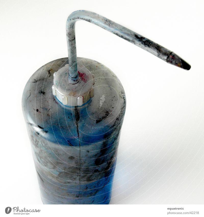 farblöser Druckerei Lösungsmittel Industrie Flasche Statue verschmiert Farbe Schmiererei