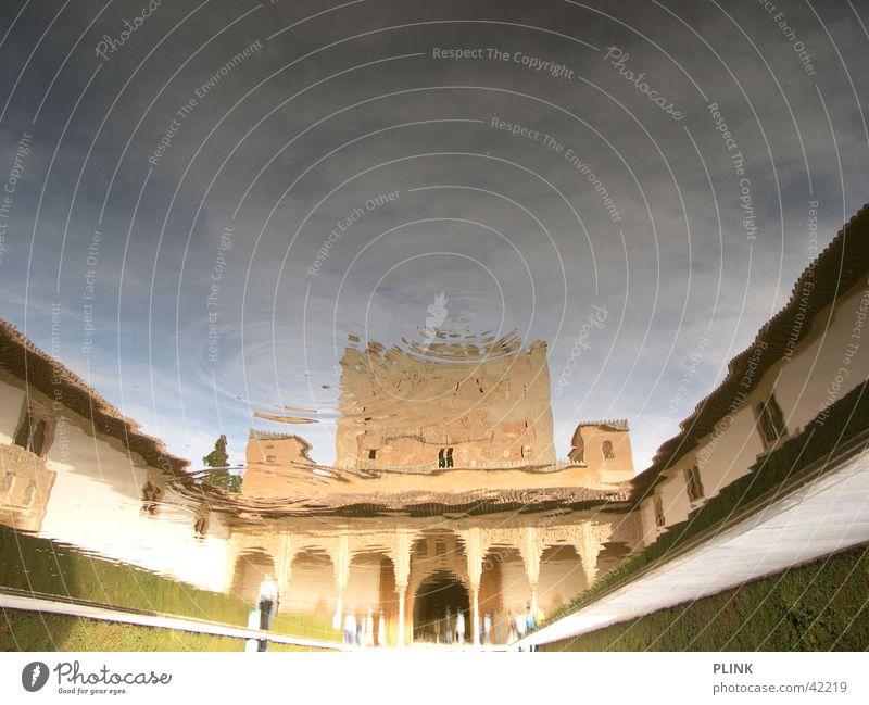 Alhambra Trick17 Wasser Sonne Sommer Architektur Spanien Symmetrie Andalusien Granada