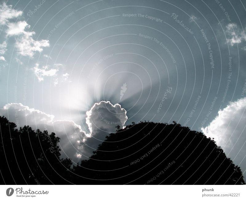 strahlend Sonne Lampe Beleuchtung verdeckt Lichtstrahl