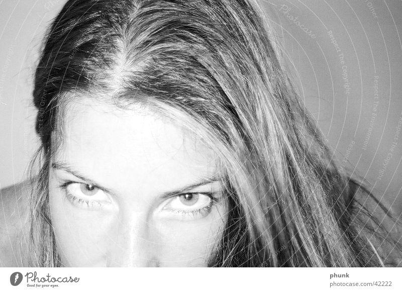 lovely Frau Auge feminin Haare & Frisuren Anschnitt herausfordernd