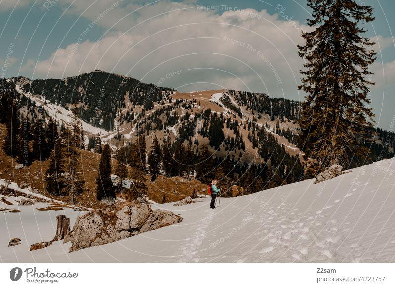 Wanderin am Soinsee in Oberbayern alpenvorland naturverbundenheit outdoor wandern Berge u. Gebirge Farbfoto warme farben Landschaft Alpen Freizeit & Hobby