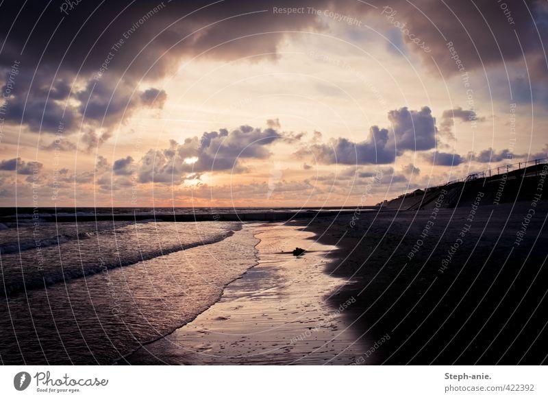 Wellen und Wolken Ferien & Urlaub & Reisen Sommerurlaub Strand Meer Insel Sand Wasser Horizont Sonne Herbst schlechtes Wetter Küste Nordsee Borkum Ostfriesland