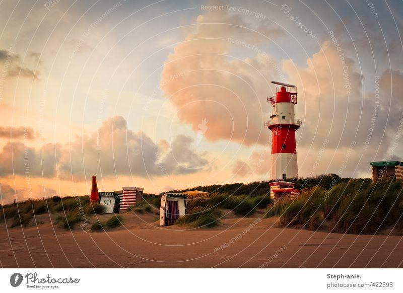 Abendsymphonie Ferien & Urlaub & Reisen Tourismus Sommerurlaub Meer Wolken Strand Nordsee Insel Borkum Erholung genießen schön Vorsicht Gelassenheit ruhig