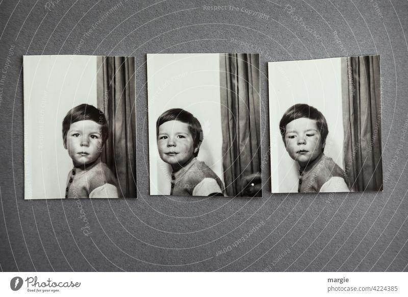 Lebensbrüche |Kinder bleiben keine Kinder! Automaten - Fotos eines kleinen Jungen Fotografie Kindheitserinnerung Kinderfoto Automatenfoto Erinnerung alt