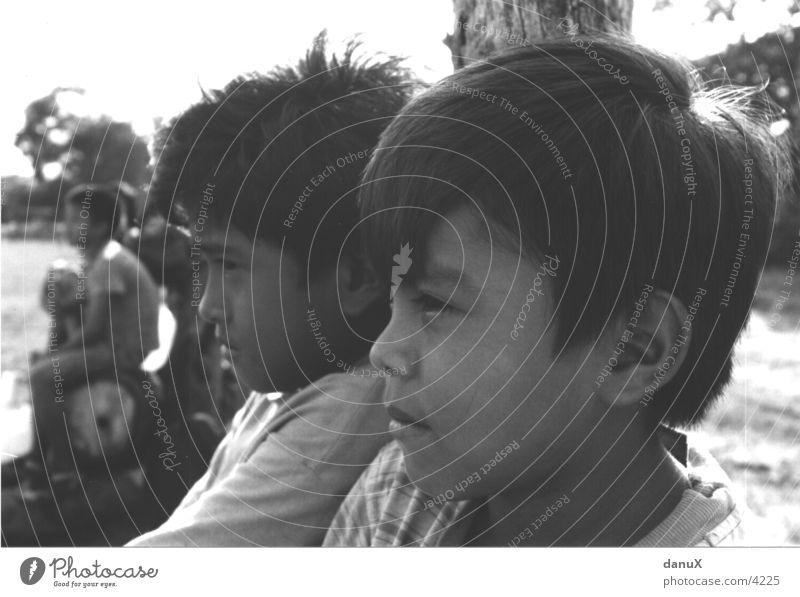 Stechender Blick Kind Mensch Gesicht Nicaragua nahe Ansicht