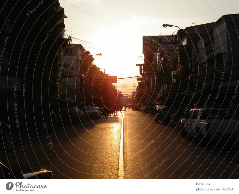 khao san road Bangkok Thailand Sonnenaufgang Erfolg Straße