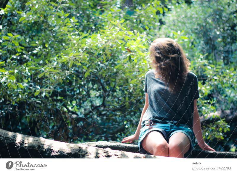Mensch Natur Jugendliche schön Sommer Baum Erholung Freude Junge Frau Erwachsene 18-30 Jahre Leben feminin Gesundheit natürlich Park