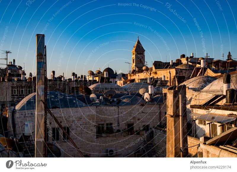 Jerusalem Palästina Außenaufnahme Farbfoto Ost-Jerusalem Religion & Glaube Wahrzeichen Tempelberg Felsendom Sehenswürdigkeit Israel Menschenleer Tourismus