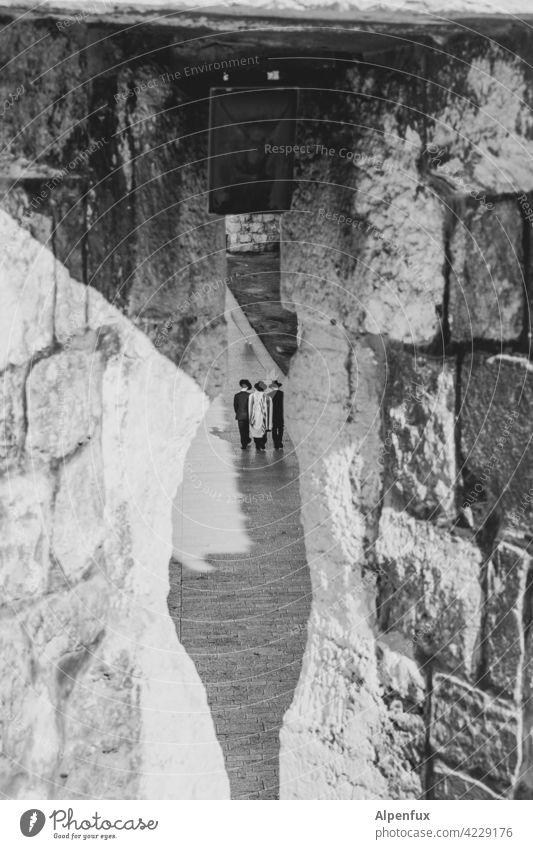 Konspiratives Treffen in Jerusalem Palästina Außenaufnahme Farbfoto Ost-Jerusalem Religion & Glaube Wahrzeichen Tempelberg Felsendom Sehenswürdigkeit Israel