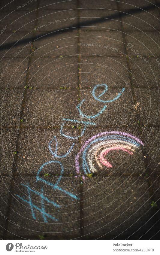 #A0# Straßenmalerei Regenbogen Peace Glaube & Religion glauben geistig Friedensfest friedenszeichen friedensbewegung Friedenssymbole Freiheit Veränderung