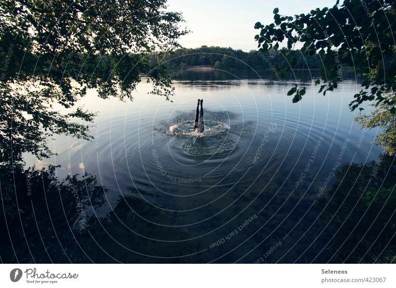 Guten Rutsch Wellen Mensch Beine 1 Umwelt Natur Landschaft Wasser Himmel Sommer Schönes Wetter Pflanze Küste Seeufer Flussufer Strand Bach Schwimmen & Baden