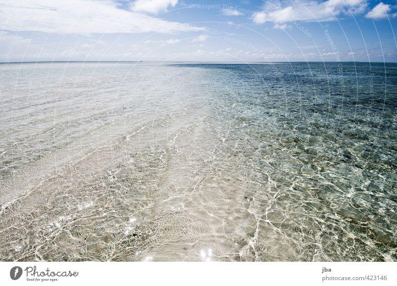seicht Wohlgefühl Zufriedenheit Erholung ruhig Ferien & Urlaub & Reisen Ferne Sommer Sommerurlaub Strand Meer Insel Wellen Natur Landschaft Urelemente Wasser