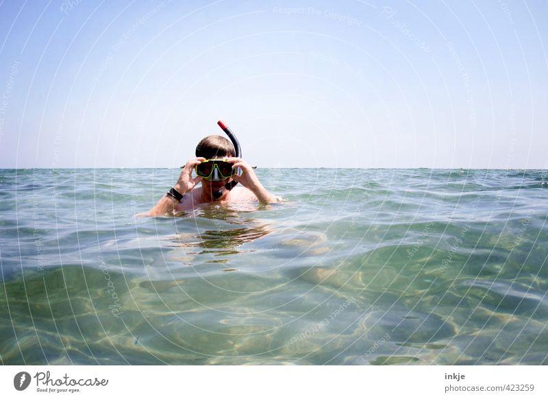 schon besser.... Freude Freizeit & Hobby Ferien & Urlaub & Reisen Sommer Sommerurlaub Meer Wellen Mann Erwachsene Leben Gesicht 1 Mensch 30-45 Jahre Umwelt Luft